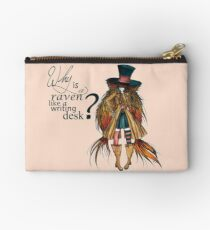 Why is a raven like a writing desk ? - Mad Hatter Studio Pouch