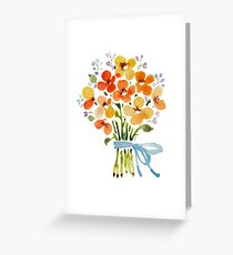 patterns Everyday   Summer bouquet Greeting Card