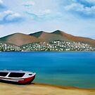 Lonely Boat by Kostas Koutsoukanidis