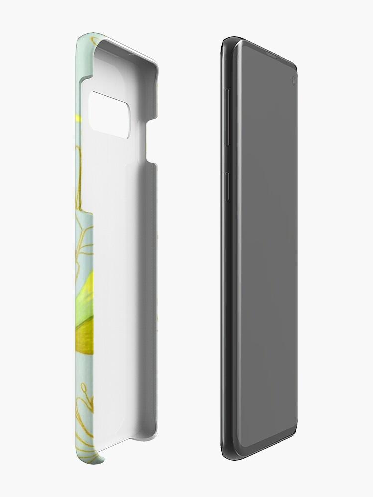 Alternate view of Golden birds Case & Skin for Samsung Galaxy