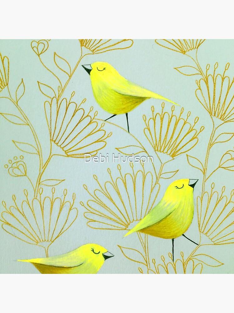 Golden birds by DebiHudson