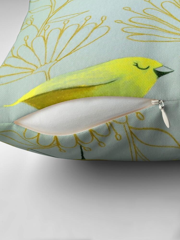 Alternate view of Golden birds Throw Pillow