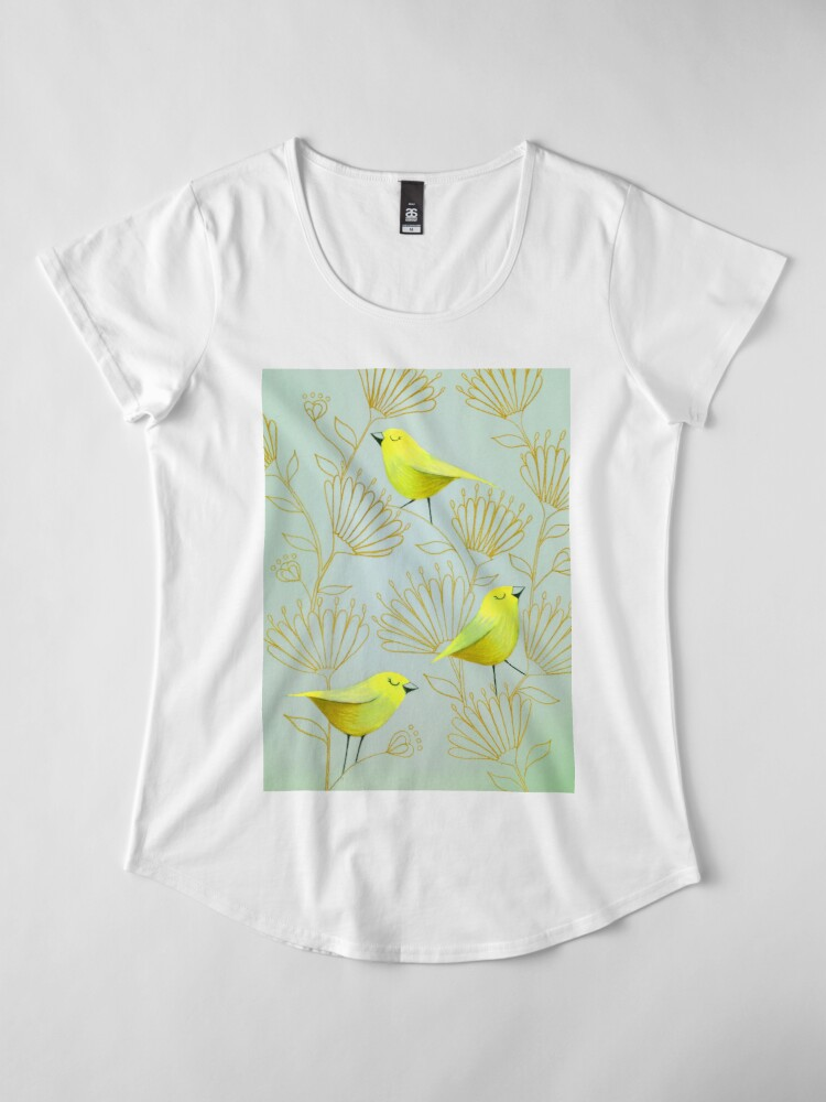 Alternate view of Golden birds Premium Scoop T-Shirt