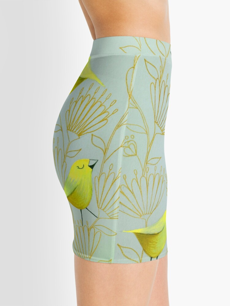 Alternate view of Golden birds Mini Skirt