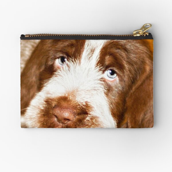 Brown Roan Italian Spinone Puppy Dog Zipper Pouch