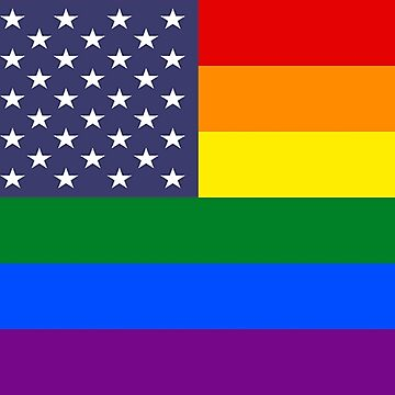 Rainbow Flag USA Products by mpodger