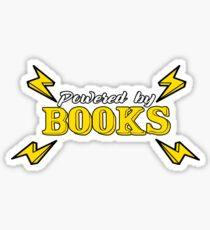 Powered by Books. Comic Book Lover Book Nerd gift Sticker