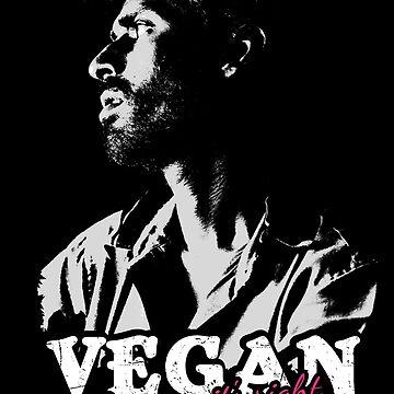 Vegan's Shirt, Great Gift for a Vegan for Birthday by FELSENSTEIN