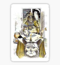 Wicca Pagan Fortune Telling Tarot Sticker Sticker