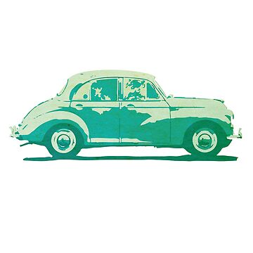 Morris Minor vintage car design by opul