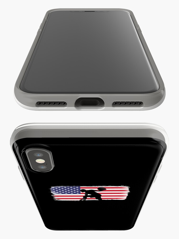 Alternate view of American Flag Basketball Player iPhone Case & Cover