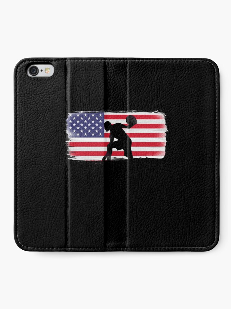 Alternate view of American Flag Basketball Player iPhone Wallet