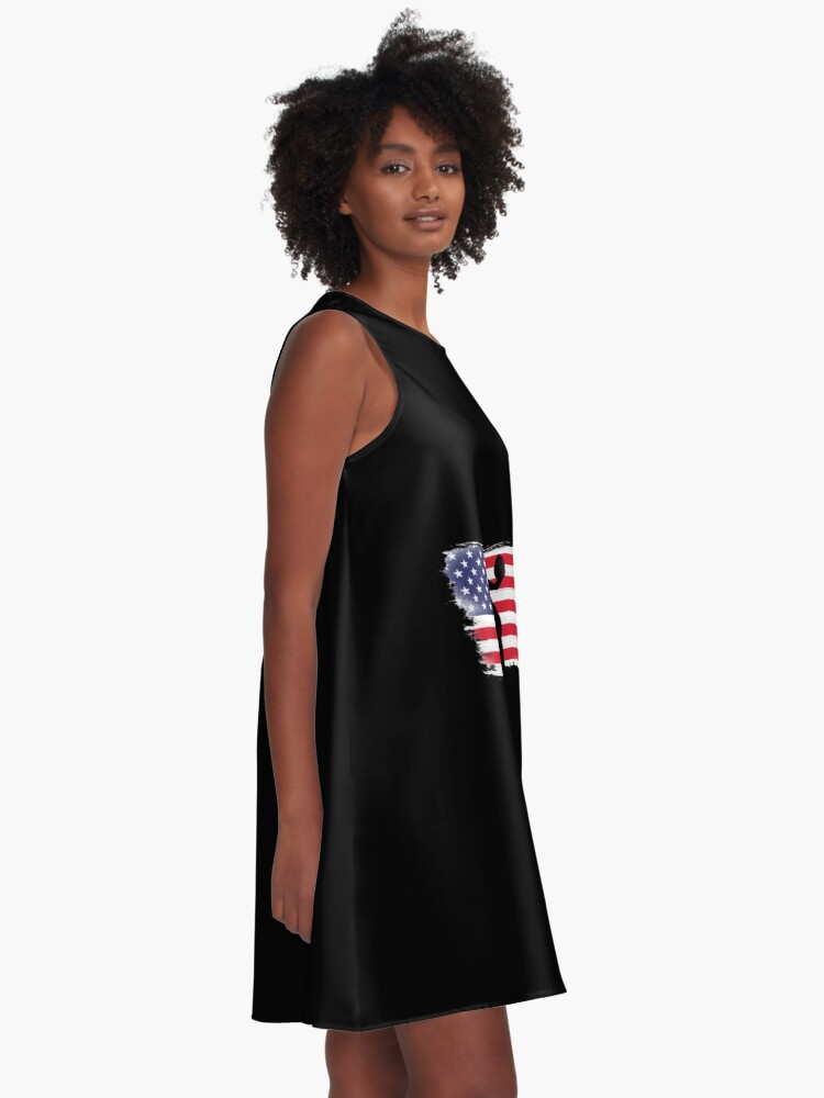 Alternate view of American Flag Basketball Player A-Line Dress