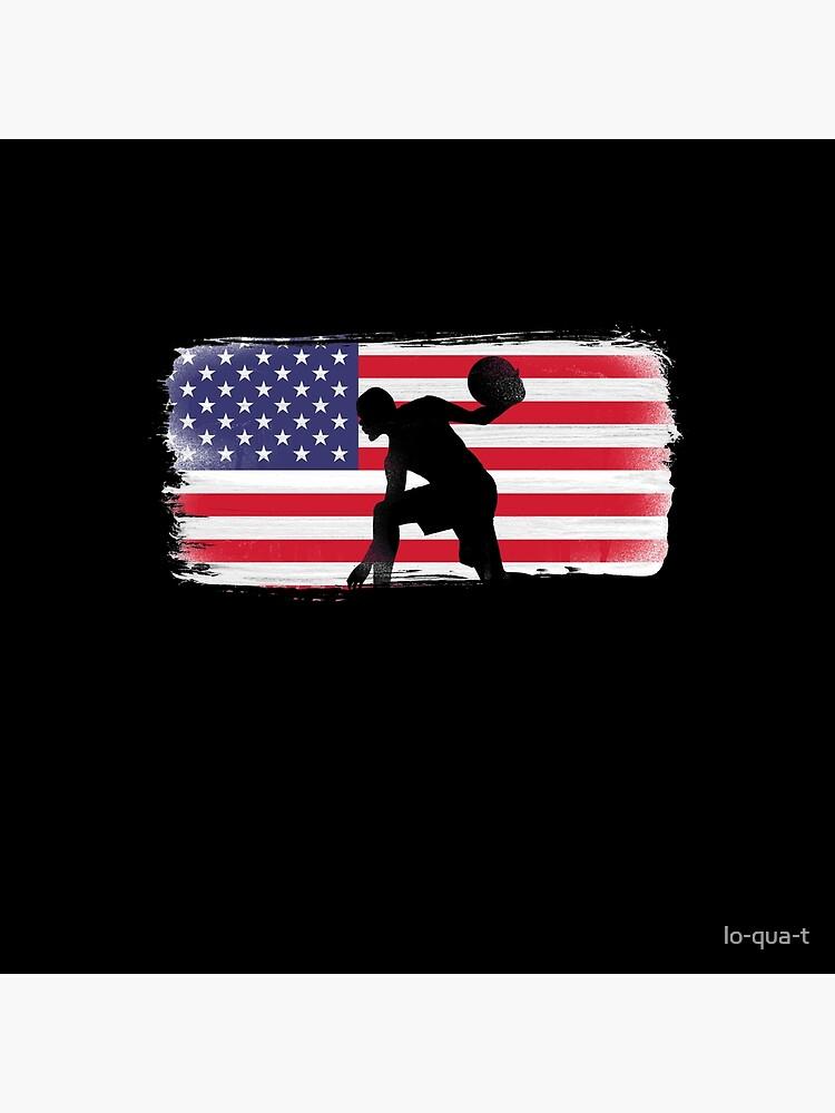 American Flag Basketball Player by lo-qua-t