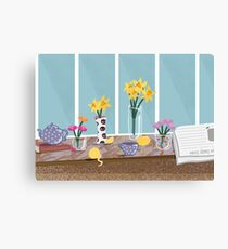 Daffodils on the Kitchen Table - Still Life Canvas Print