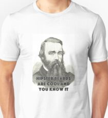 Hipsters Beards Are Cool Funny Design Unisex T-Shirt
