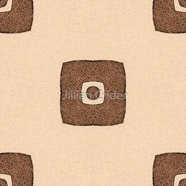 Retro Pattern Tiled Brown TV Shape Squares Funky by Jillian Crider