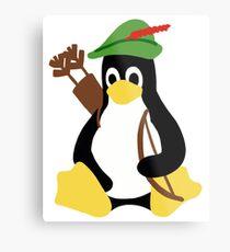 Robin Tux - Arch Linux Penguin Metal Print