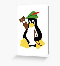 Robin Tux - Arch Linux Penguin Greeting Card