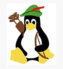 Robin Tux - Arch Linux Penguin Photographic Print