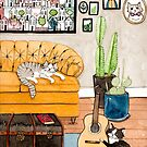 Joaquin and Wally in the Living Room by Ryan Conners