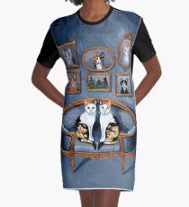 Calico Cats dans la chambre bleue Robe t-shirt