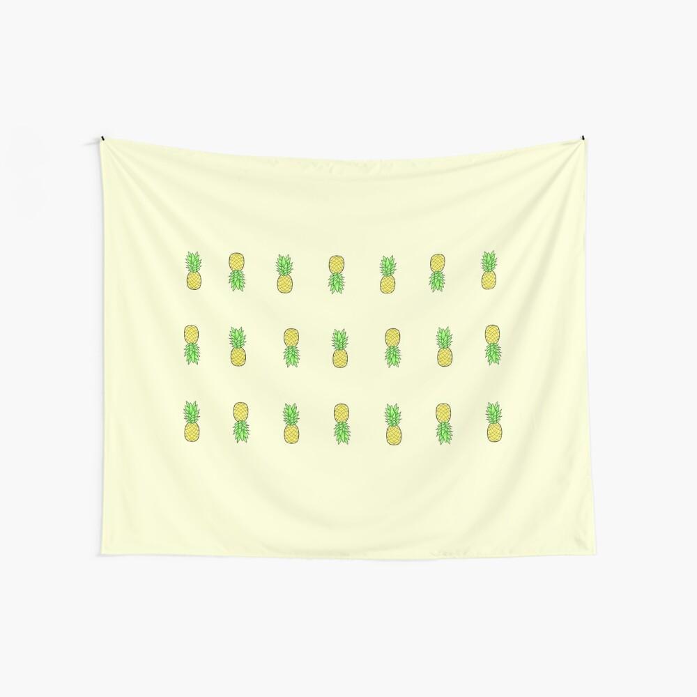 viele kleine Ananas im Stil Wandbehang