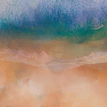Abstract coastal art by TAZUZU
