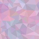 Beautiful Triangle iridescent seamless pattern. Contemporary abstract pink and blue background style by eszadesign