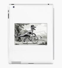 Velociraptor on a Velocipede iPad Case/Skin
