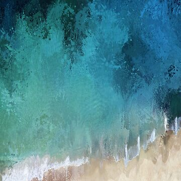 Abstract coastal art, ocean wave by TAZUZU
