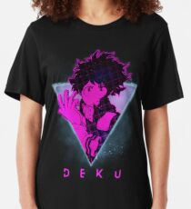 Deku Retro 80s - My Hero Academia | Izuku Midoriya Anime Shirt Slim Fit T-Shirt