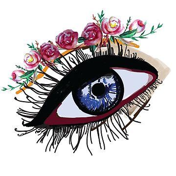 Blue Eye & Flowers  by Manitarka
