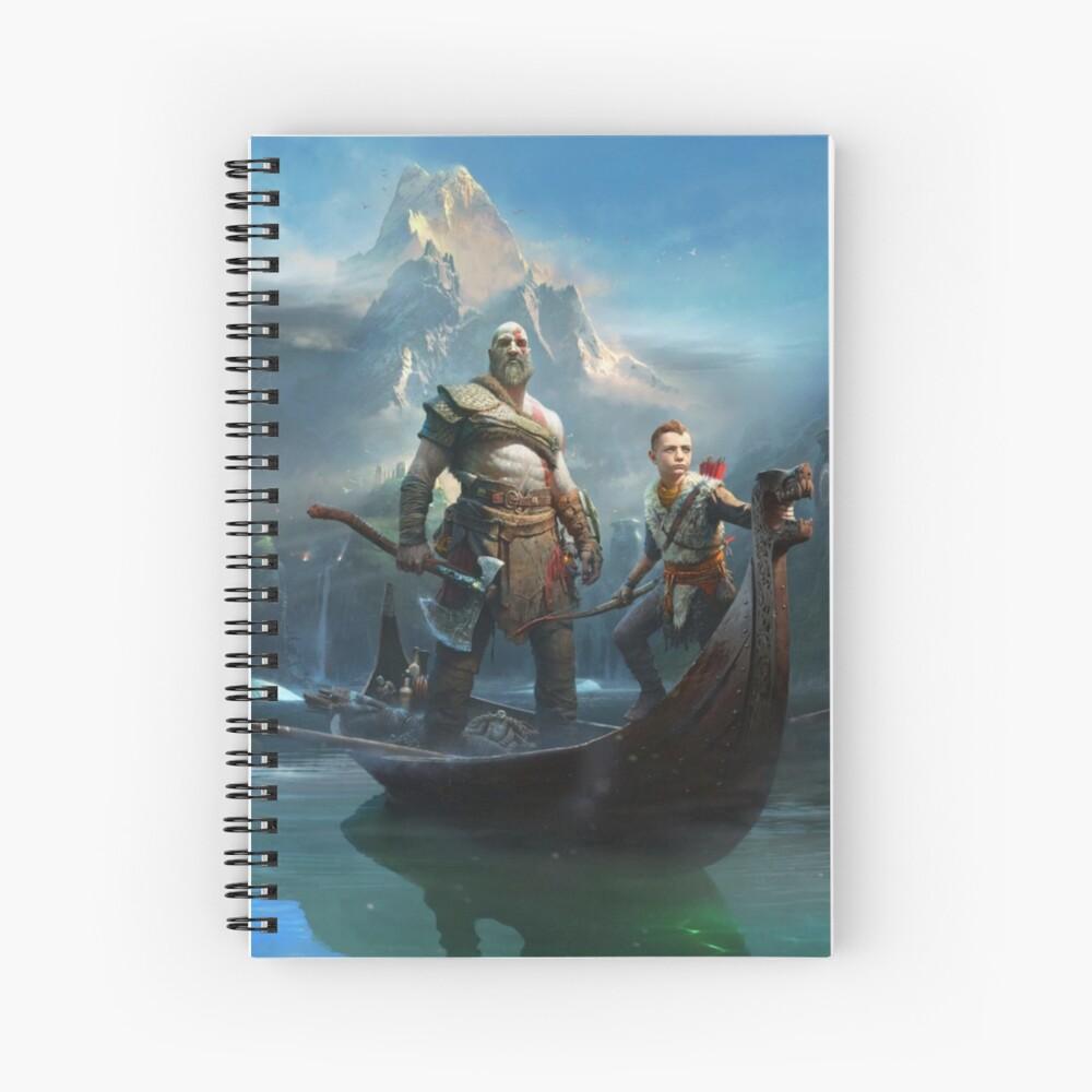 Gott des Krieges - Kratos und Atreus Spiralblock