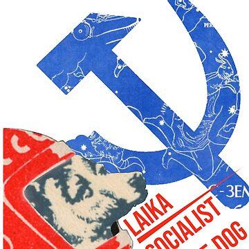 Laika socialist space dog by KosmonautLaika
