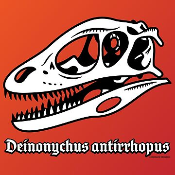 Fearsome Deinonychus Skull by anatotitan