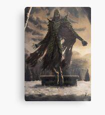 Skyrim Dragon Priest Fan Art Poster Metal Print