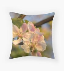 Wild Apple Blossom Throw Pillow