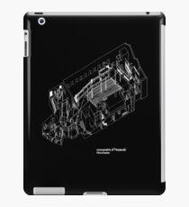 Axonometric Of The Haç (black version) iPad Case/Skin