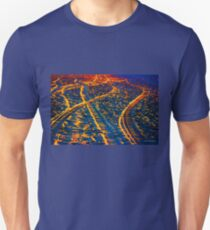 Tire Tracks and Sunset at the Beach T-Shirt