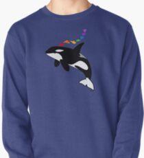 Rainbow orca Pullover
