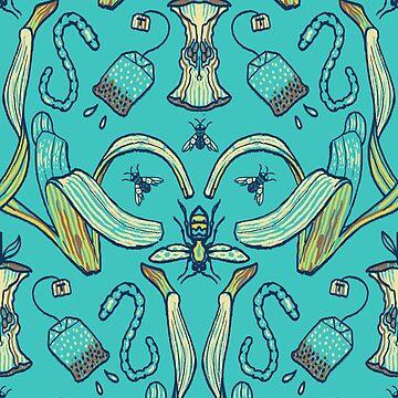 Rubbish Pattern (aqua) by FrederickJay