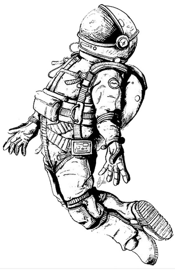"""""""astronaut drawing"""" by gustavoitou   Redbubble"""