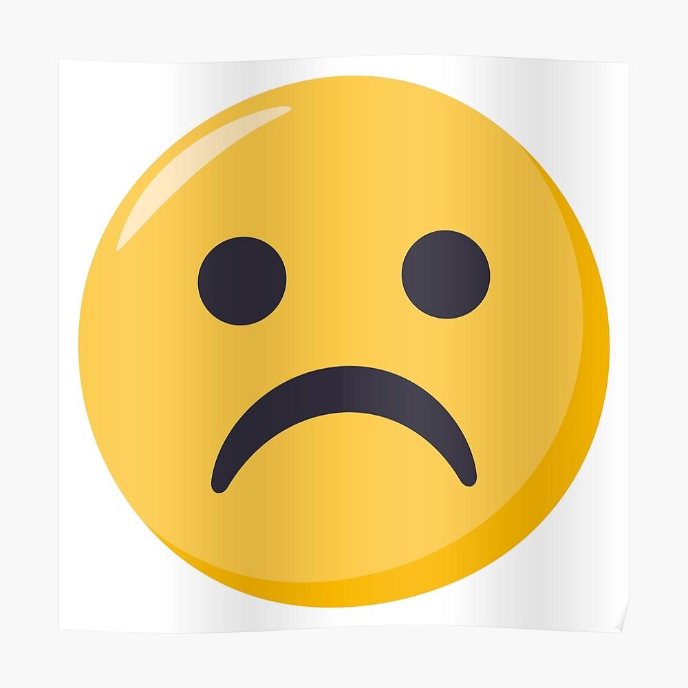Joypixels frowning face emoji poster