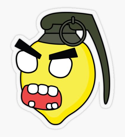 angry zombie combustible lemon Transparent Sticker