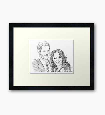 Royal love Framed Print