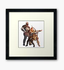 God of War Kratos Arteus Hunting Framed Print