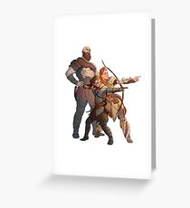 God of War Kratos Arteus Hunting Greeting Card