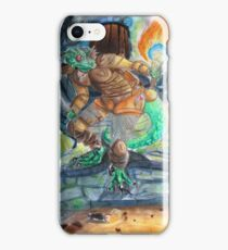 Elder Scrolls Oblivion: Argonian in the Cave iPhone Case/Skin