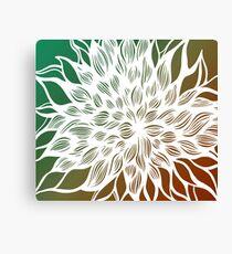 flower (orange-green) Canvas Print